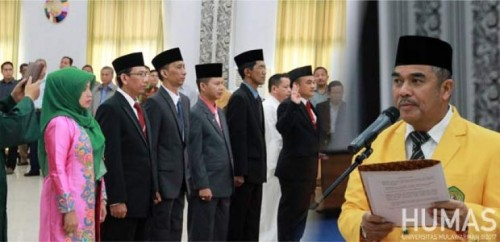 cover [Unmul] Rektor Lantik Para Wakil Dekan Faperta dan FPIK