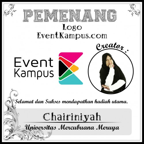 Foto Chairiniyah, Mahasiswi dari Universitas Mercubuana Berhasil Memenangkan Lomba Logo Eventkampus