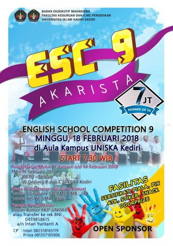 cover Lomba Olimpiade Bahasa Inggris; English School Competition 9 (ESC 9)