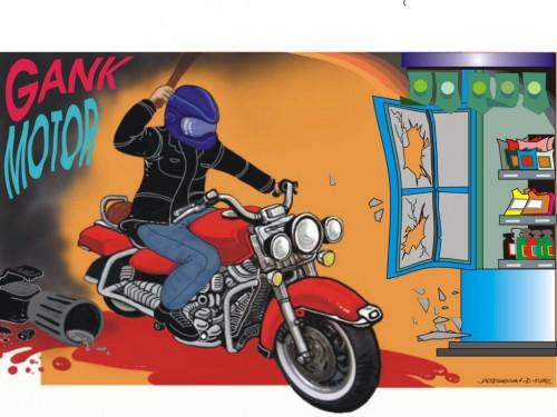 cover Dampak gang motor