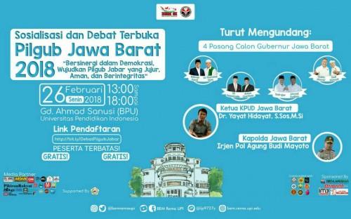 cover Sosialisasi dan Debat Terbuka Pilgub Jawa Barat 2018