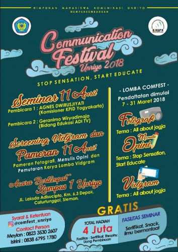 cover Communication Festival UNRIYO 2018