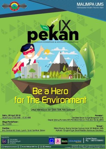 cover PEKAN (Pendidikan Konservasi dan Advokasi Lingkungan) Ke - 9 MALIMPA UMS
