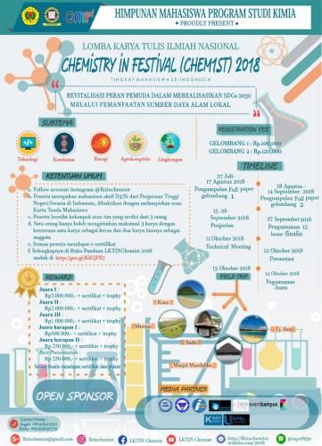 cover Lomba Karya Tulis Ilmiah Nasional Chem1st 2018