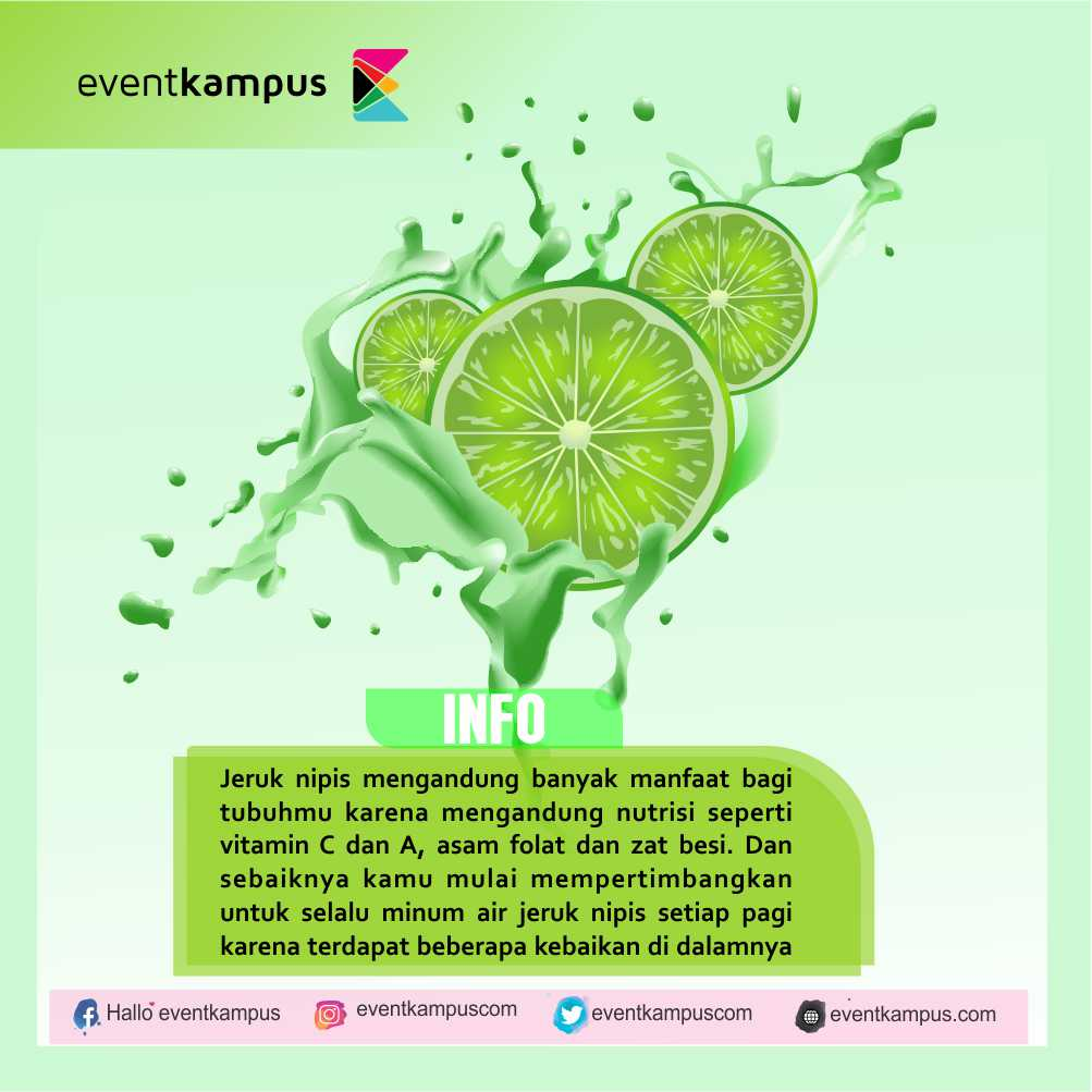 Manfaat Nyata Jika Rajin Minum Air Jeruk Nipis Tiap Pagi Eventkampus Com