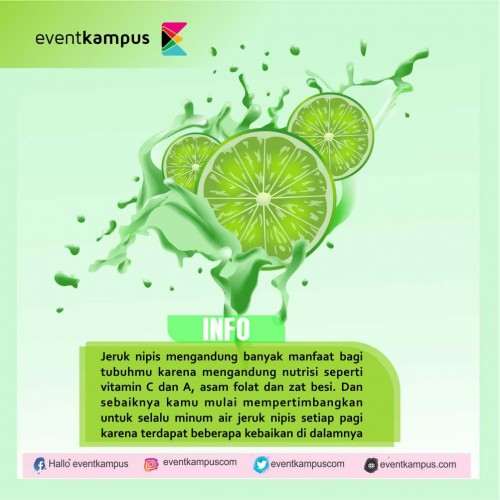 Foto Manfaat Nyata Jika Rajin Minum Air Jeruk Nipis Tiap Pagi