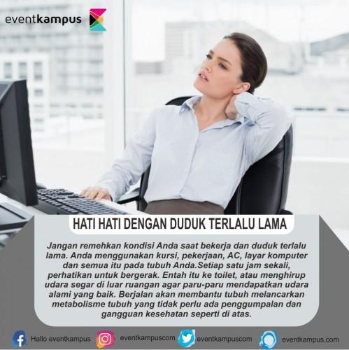 cover HATI HATI DENGAN DUDUK TERLALU LAMA