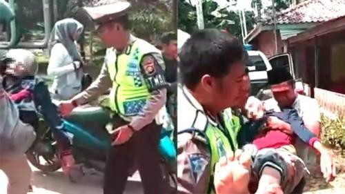 Foto Kronologi Jenazah Dibonceng Sepeda Motor di Tanjabtim, Almarhum Meninggal di Atas Motor