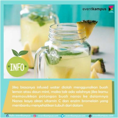 Foto Buah nanas dibuat infused water? Ini 10 manfaat sehatnya