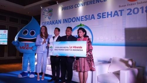 cover Kampanyekan Gerakan Indonesia Sehat, Le Mineral & IDI kembali adakan Water Run 2018