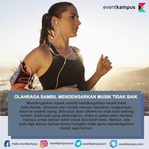 cover OLAHRAGA SAMBIL MENDENGARKAN MUSIK TIDAK BAIK