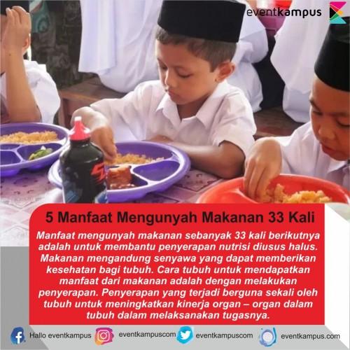 cover 5 Manfaat Mengunyah Makanan 33 Kali