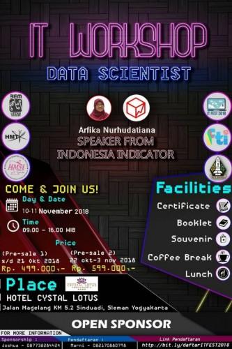 cover IT FEST UKDW 2018: Workshop Data Scientist