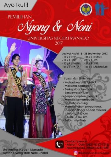 cover Pemilihan Nyong Noni UNIMA