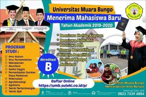 cover penerimaan mahasiswa baru Universitas muara bungo
