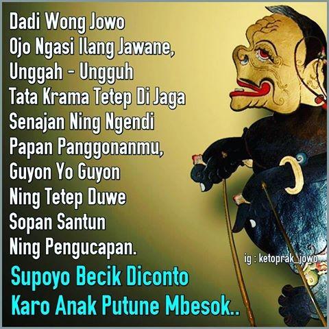 Foto Wong Jawa Ojo Nganti Ilang Jawane