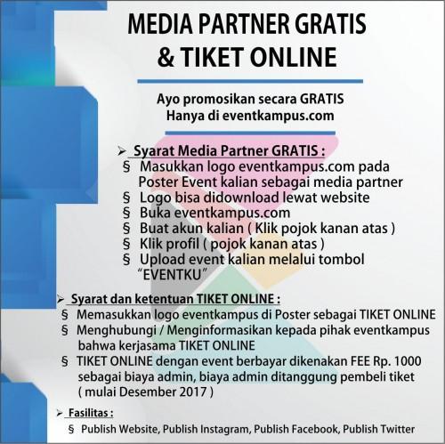 Foto Apa sih Media Partnership itu? Bagaimana Cara Bermedia Partner dan kerjasama tiket online dengan Eventkampus?