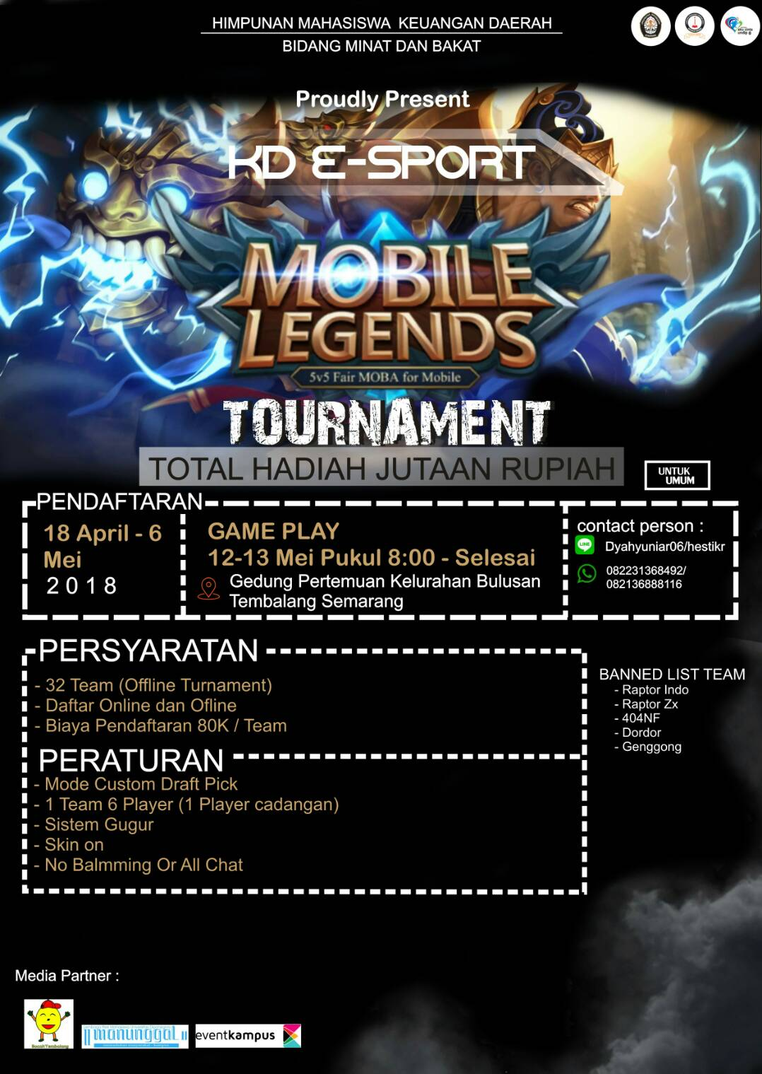 Event Calendar Mobile Legend : Kd e sport mobile legends competition eventkampus