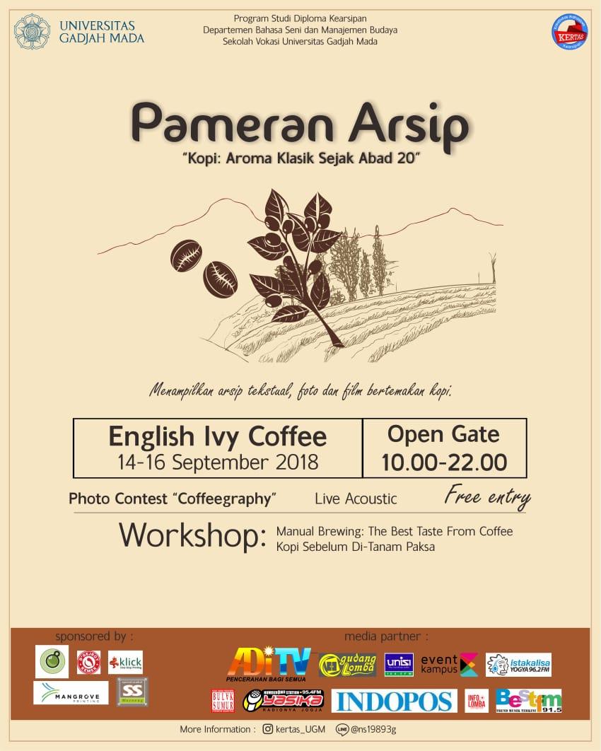 Poster Pameran Arsip Kopi Ugm