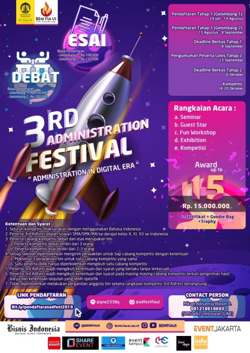 3rd Administration Festival