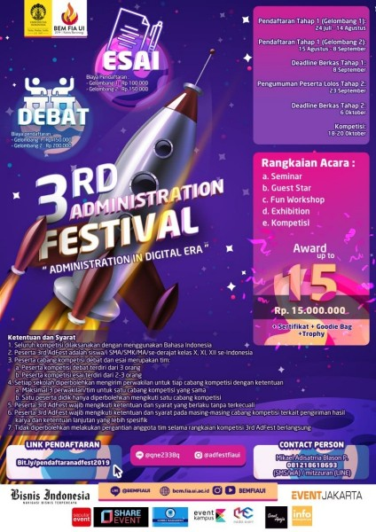 3rd Administration Festival