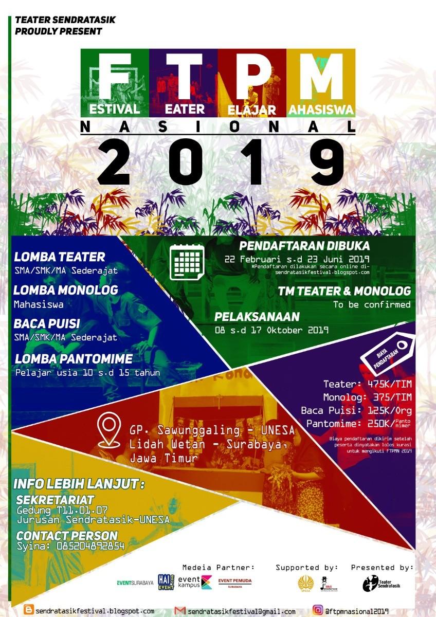 Festival Teater Pelajar dan Mahasiswa Nasional 2019